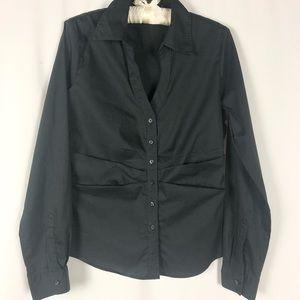 Tahari Long Sleeve Button Down Dress Shirt Medium